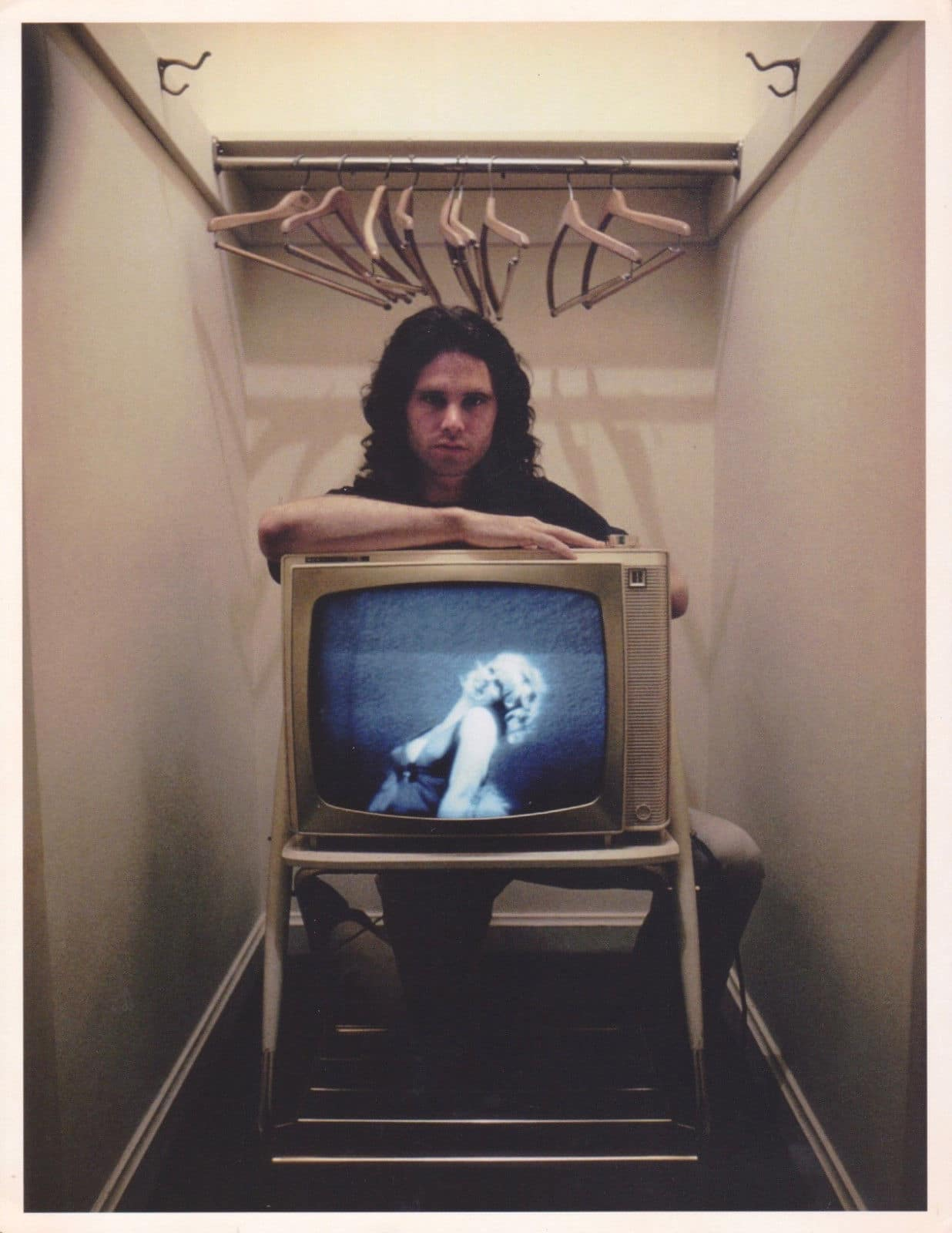 Jim Morrison Original 1968 Art Kane Photograph With Tv