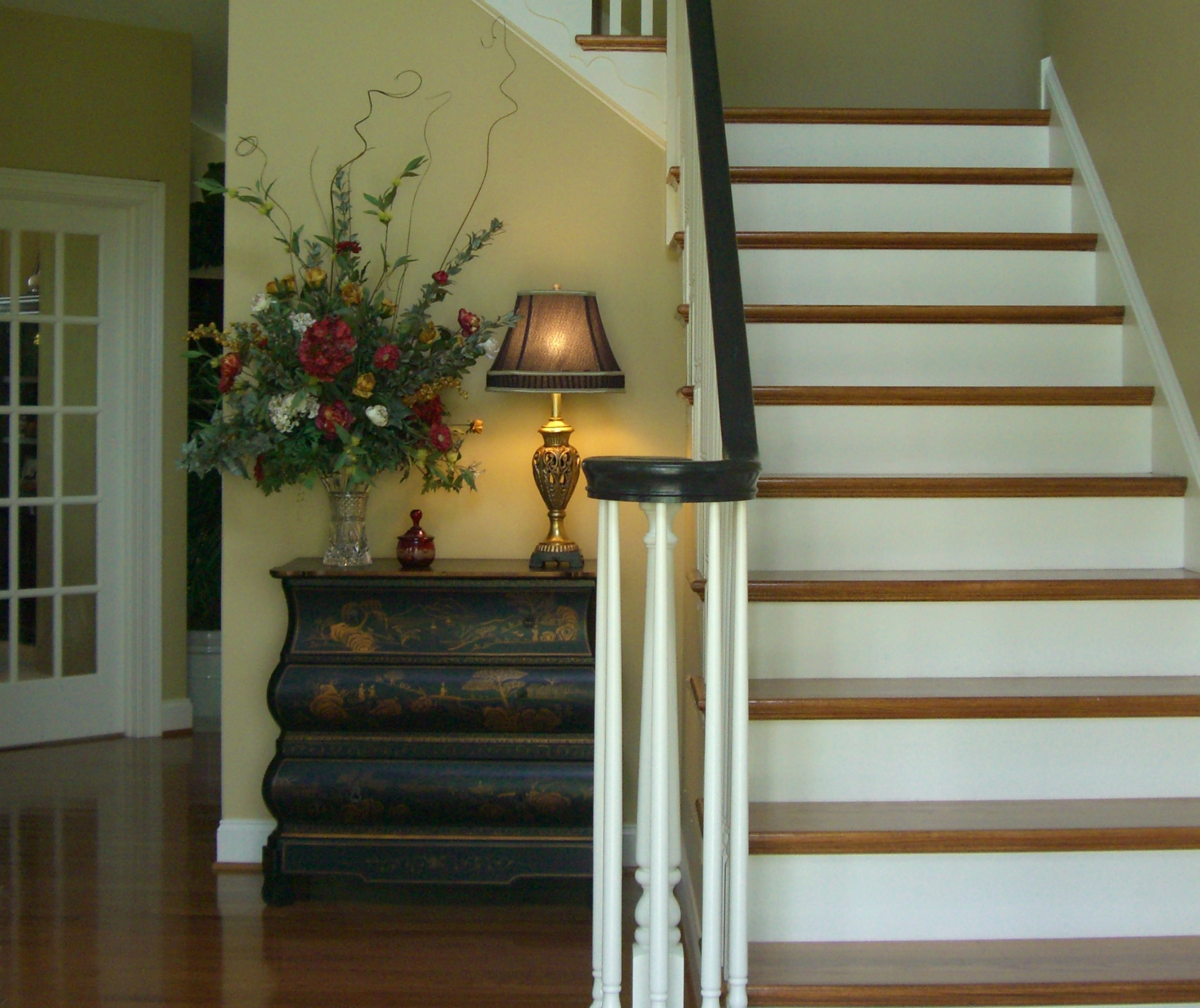 Paint Your Staircase Railing Redesign Right Llc | Painted Black Stair Railing | Carpet | High Gloss | Wall Both Side | Step | Colour Combination