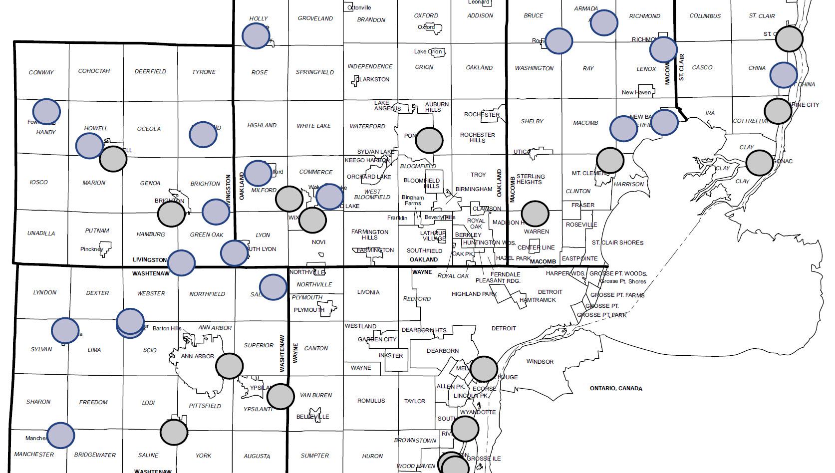 Warren Detroit Drainage Links