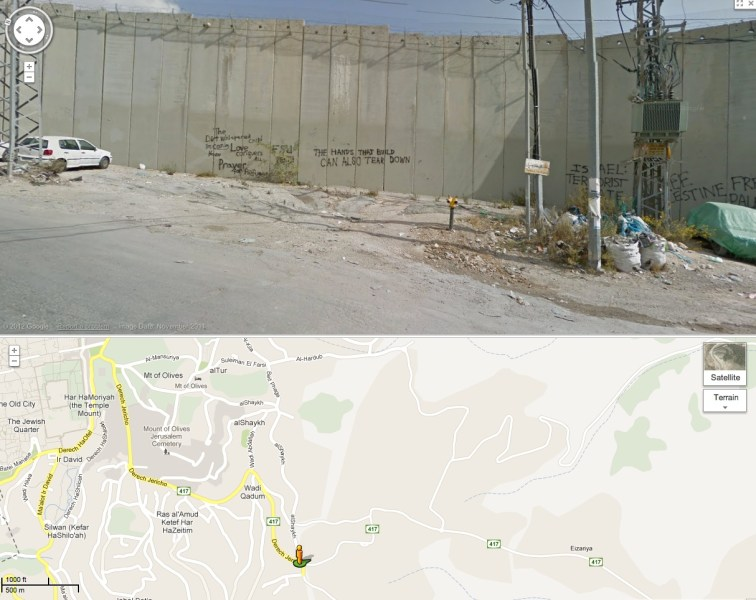 Israel  Palestine  Google Earth  and censorship     Regional GeogBlog Part
