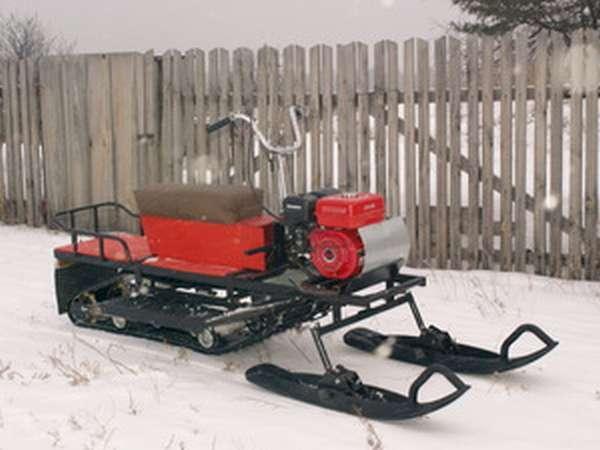 Самодельный снегоход: постройка недорогой конструкции своими руками