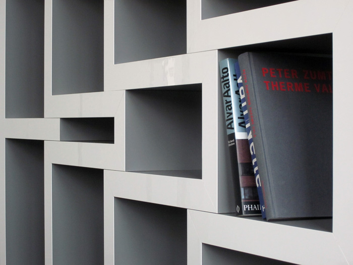 boekenkast   We have added a new picture of our REK bookshelves design  This modular  bookcase consists of five zigzag shaped parts which can slide in or out to  create