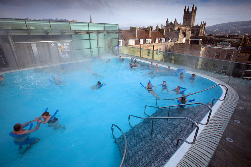 Bath: de Thermae Bath Spa. © David Hedges