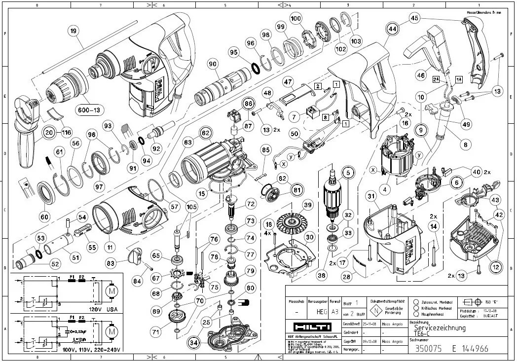 76 Hilti Hammer Drill Parts Diagram