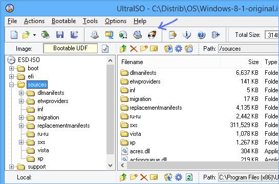 Ultraiso Boot Disk.