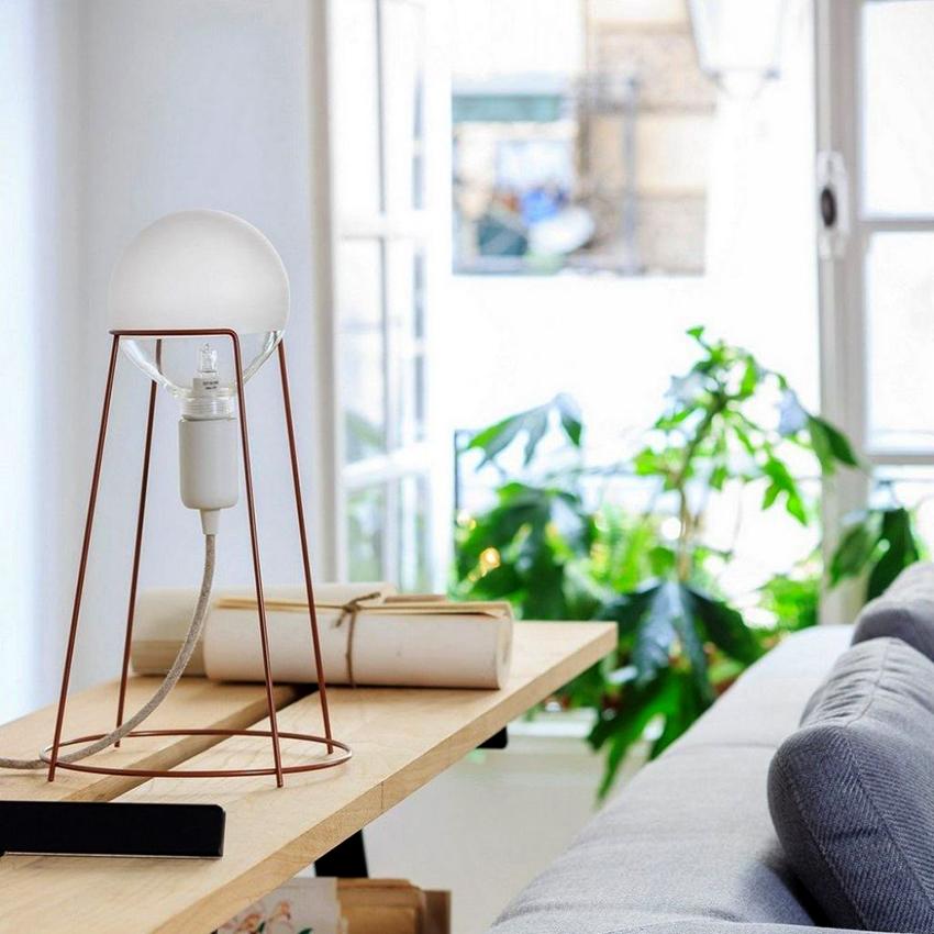 对于桌面灯,灯泡为40-120 W.