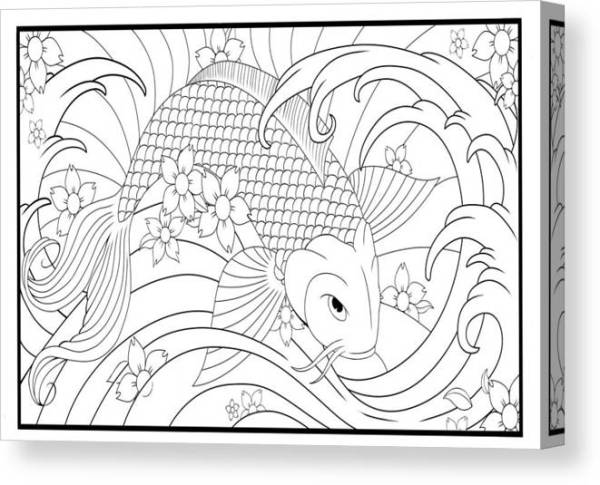 koi fish coloring pages # 70