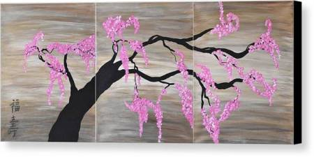 Cherry Blossoms Art Pink Contemporary Flower Tree Art Cherry     Pink Flowers  Pink Cherry Blossoms Art  Contemporary   Flower cherry Blossom  Wall Art