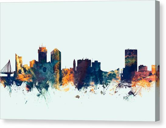 Canvas Skyline City Kansas