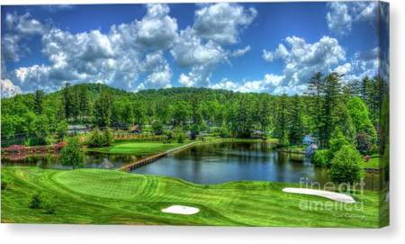 Highlands Nc Art   Fine Art America Highlands Nc Canvas Print   Majestic Golf Highlands Country Club Golf Art  by Reid Callaway