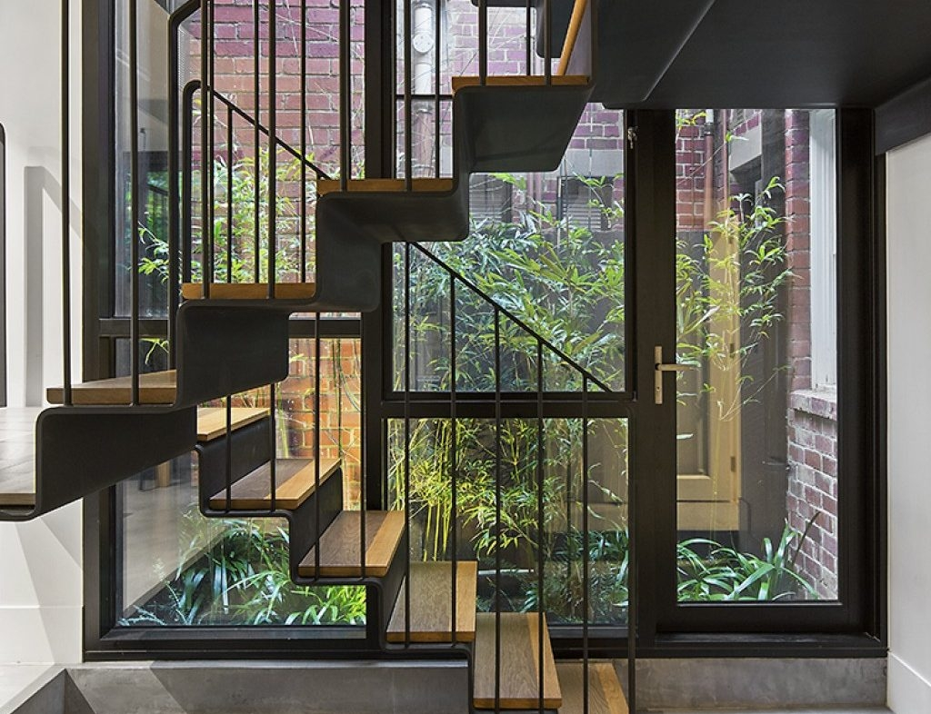 Stairs With Flair Renew   Inner Steps Design For House   Contemporary   Ultra Modern   Metal Staircase   Double Storey   Side Wall