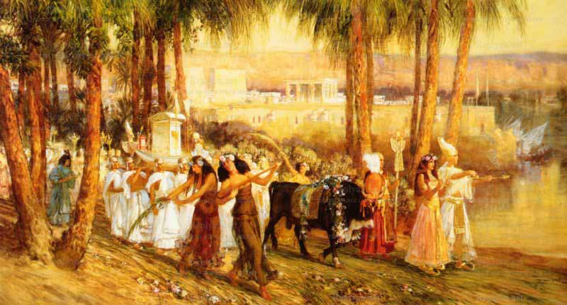 Neujahrsfeier im alten Ägypten