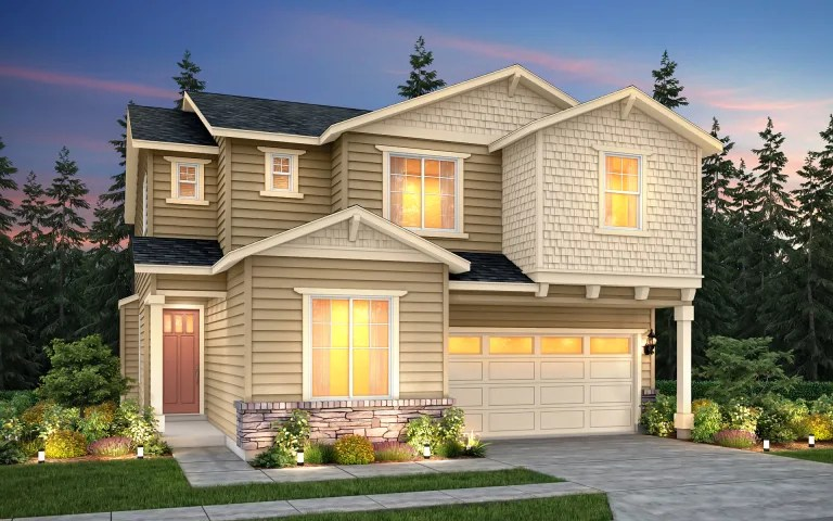 Waterville in Kirkland  WA at Marinwood   Pulte The Waterville  a two story single family home shown with Home Exterior  Design A