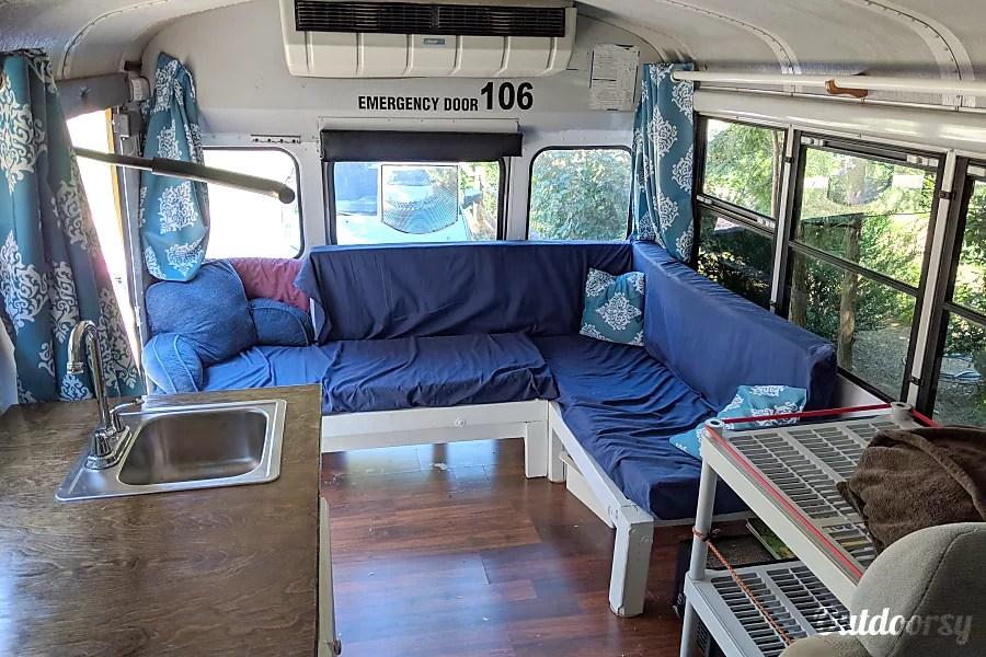 2001 Thomas School Bus Motor Home Class C Rental In Winston Salem Nc Outdoorsy