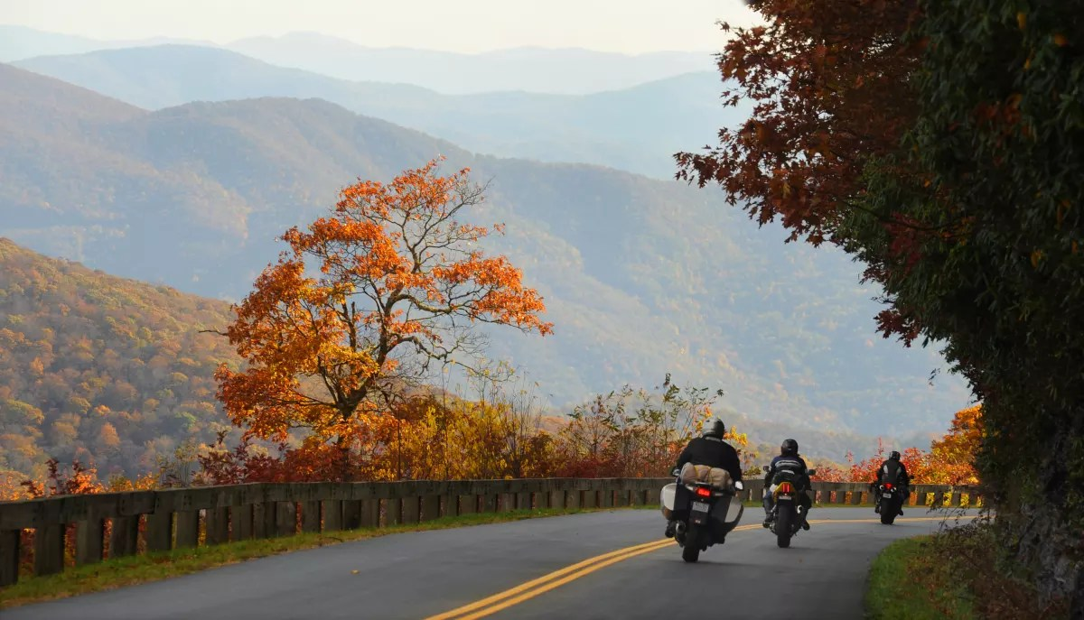 Scenic Fall Routes On A Motorcycle In Asheville