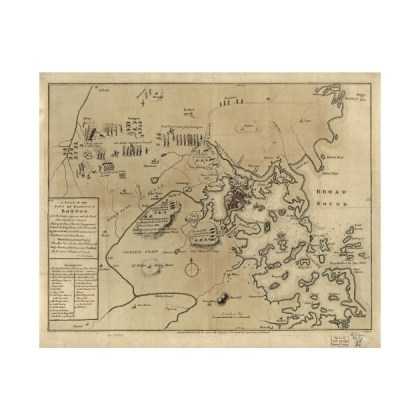 Vintage Boston Revolutionary War Map  1775    American Revolutionary     2914462 0