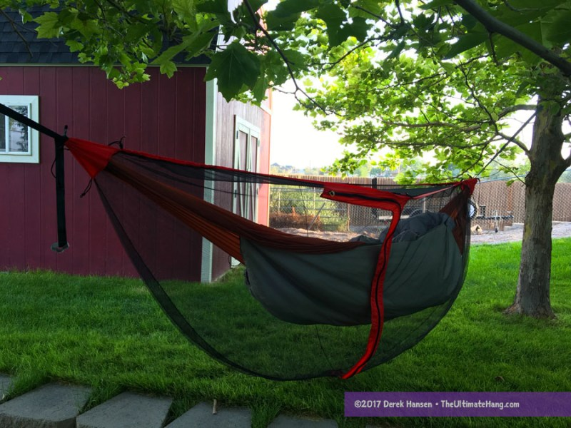 Review     Sea to Summit Hammock Gear     The Ultimate Hang Using a generic  non Sea to Summit  hammock with the bug net  A hammock up  to 11 feet long will work fine in this bug net