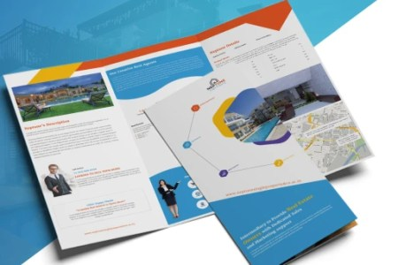 Download RealZuck   Real Estate Tri Fold Brochure Template from UiSuMo RealZuck   Real Estate Tri Fold Brochure Template