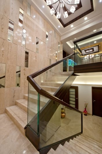 Glass Indian Duplex House Staircase Designs | Duplex House Staircase Wall Design | Contemporary | Textured | Apartment Duplex | Fancy | Stair Wall Paint