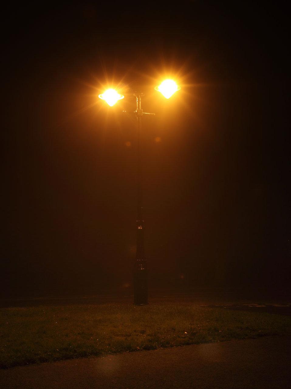 Street Lamp Free Stock Photo A Street Lamp Shining On