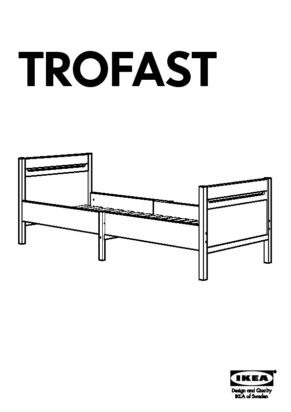 Trofast Ext Bed Frame With Slatted Bed Base Pine Ikea