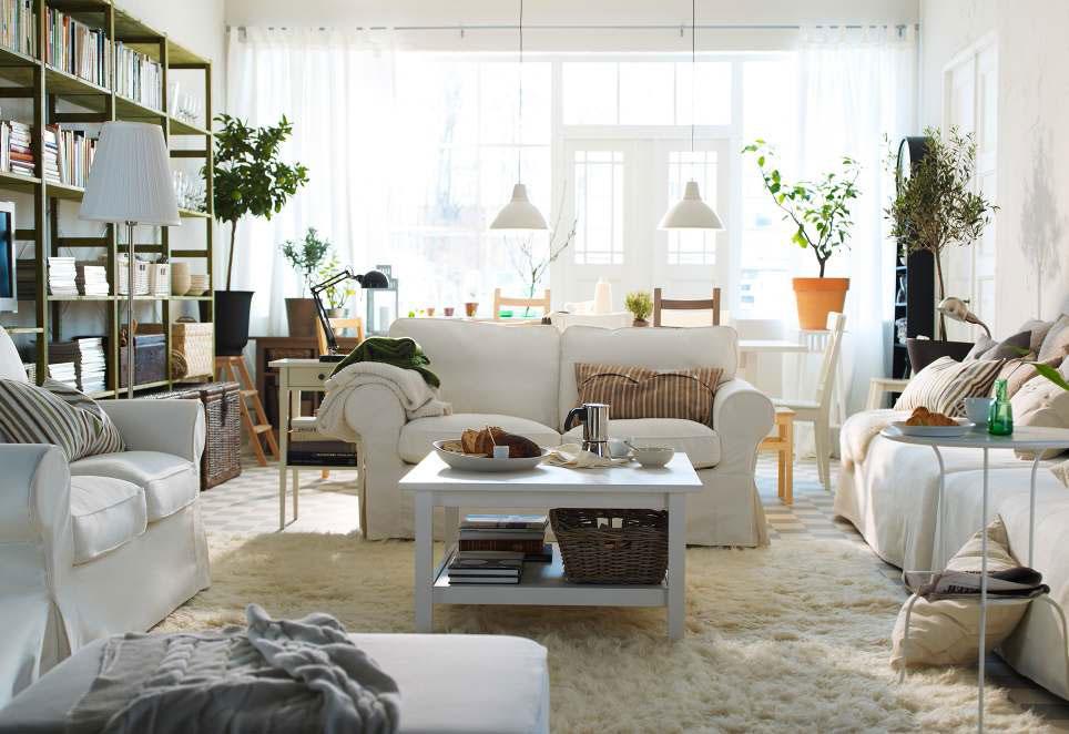 Room Table White Living