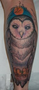 barn owl tattoo - HD1256×2864