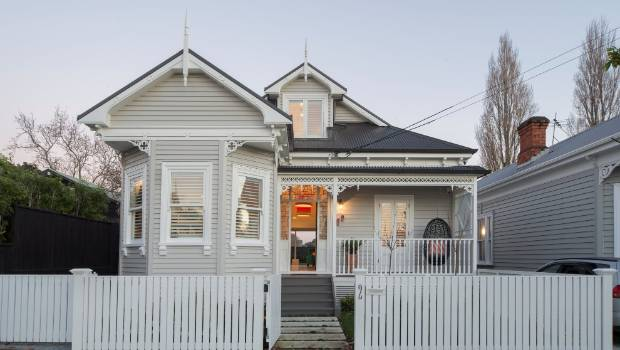 How do you choose a paint colour for your house exterior    Stuff co nz This traditional villa renovation by Jessop Architects teamed a mid neutral  with white trim and a