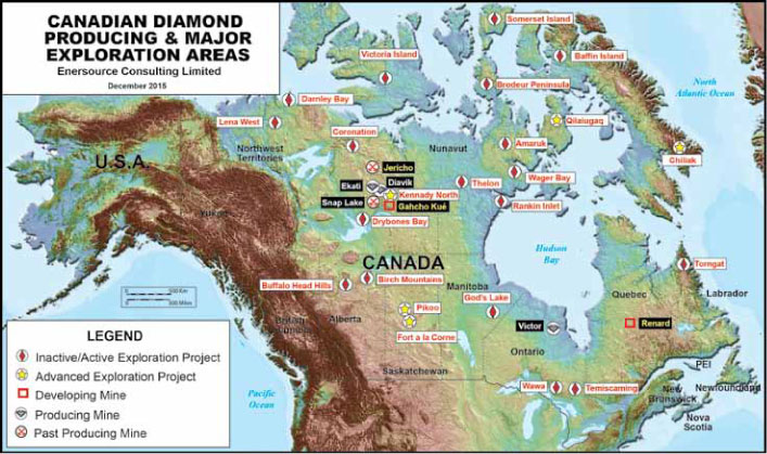 Diamond Mine Locations Map