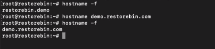 Changing Hostname from Terminal
