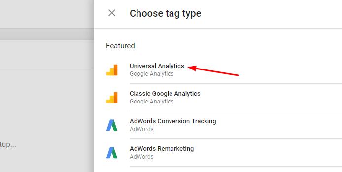 Choose Tag Type