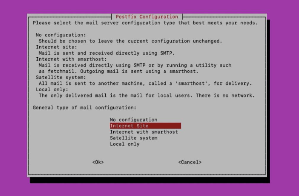 Configure Postfix Installation