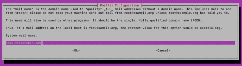 Configure Postfix with FQDN hostname