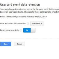 User and Event Data Retention: best set up for Google Analytics 7