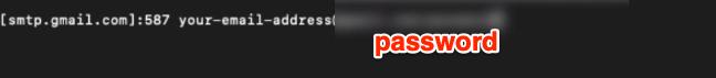 Gmail SMTP Password om SASL Passwd file
