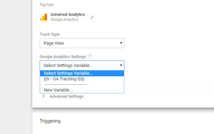 Google Analytics Settings GTM Tag