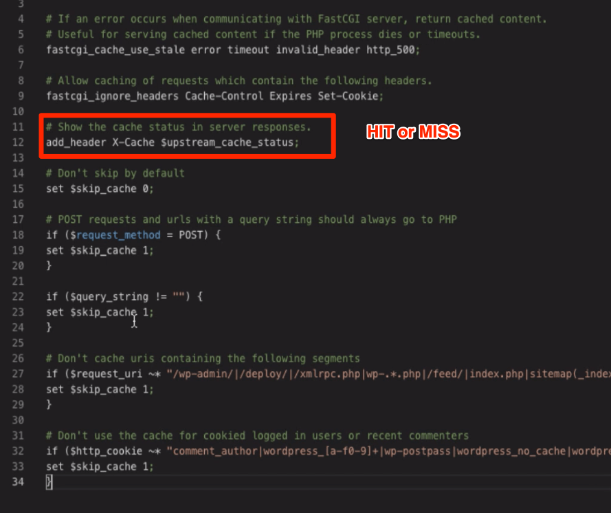 Nginx Cache FastCGI Configuration file