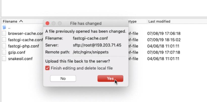 Saving FastCGI Cache in Ubuntu Cloud Server