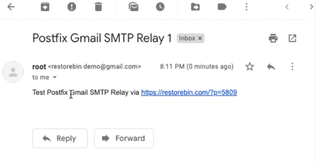 Test Email received from Postfix SMTP