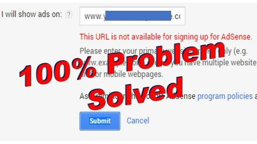 7 easy tips for 'This URL is not Available for Signing Up for AdSense' 3