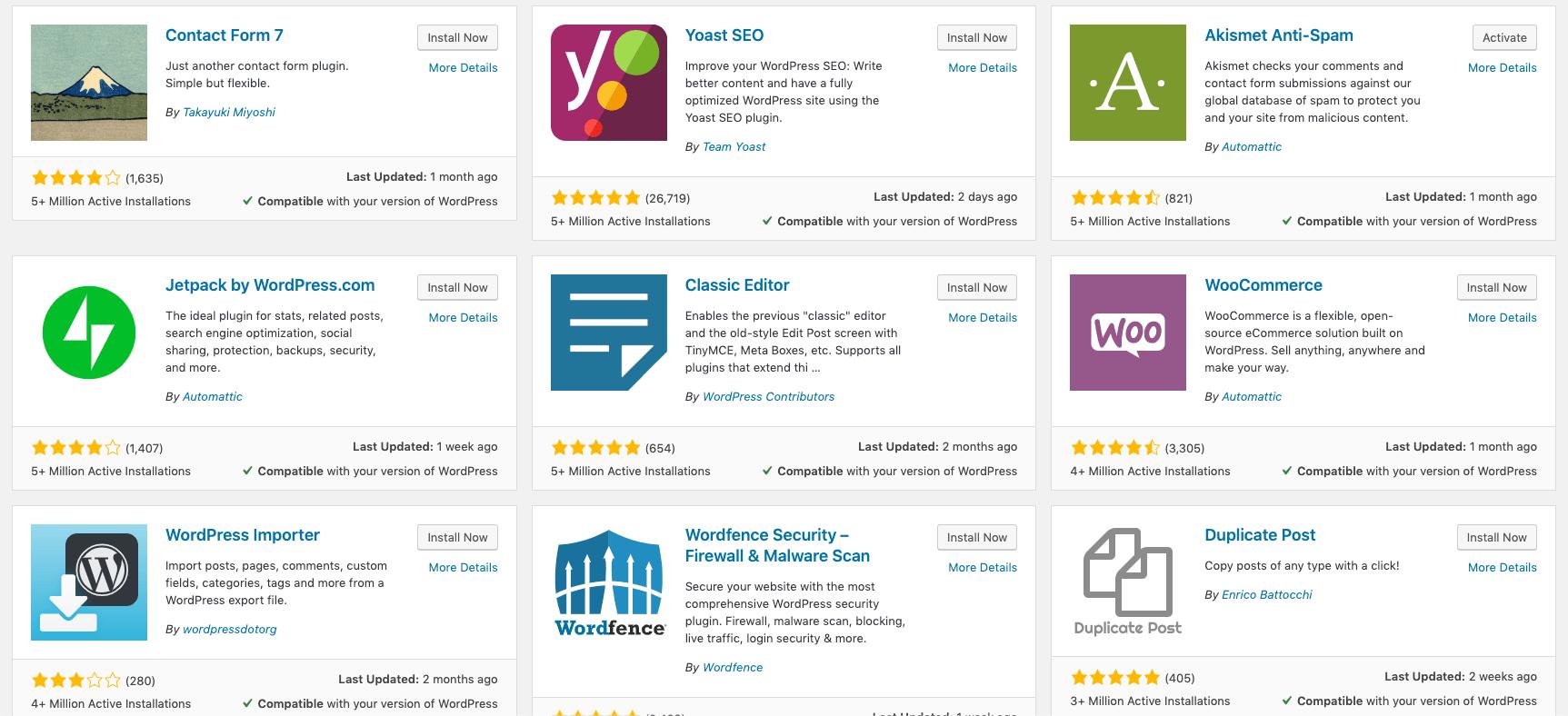 WordPress Plugins Repository - Popular