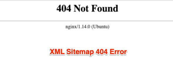 XML Sitemap 404 Error