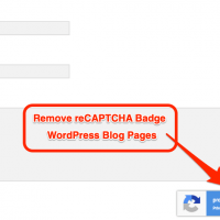 How to hide or remove reCAPTCHA badge (V3) from WordPress blog? 3