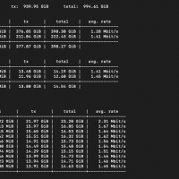 vnstat command for bandwidth and traffic monitor