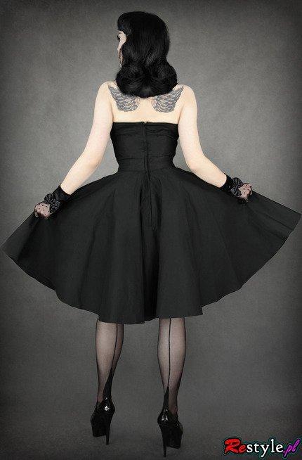 pin up 50' BLACK DRESS heart neckline, elegant, retro ...