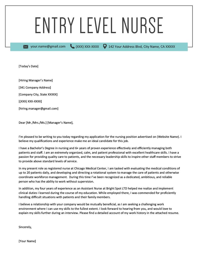 Www Rn Resume Cover Letter