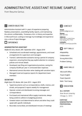 Secretary Resume Sample Amp Writing Tips Free Download Rg