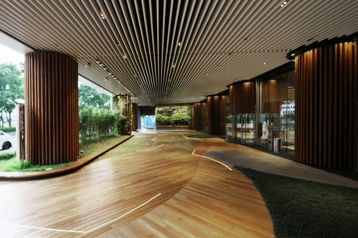 187 Green Office Lobby By 4n Design Architects Hong Kong