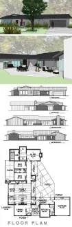 8 Cliff May inspired ranch house plans from Houseplans com   Retro     Cliff May inspired house plan