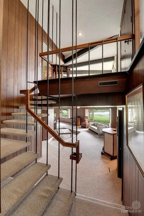 Stunning Spectacular 1961 Mid Century Modern Time Capsule House   Mid Century Modern Stairs   Modern Craftsman   Design   Modern Middle House   Industrial Modern   Lighting
